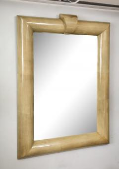 Title Oversized Lacquered Parchment Mirror - 2066881