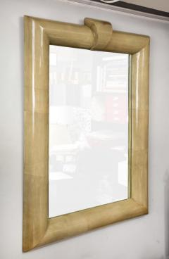 Title Oversized Lacquered Parchment Mirror - 2066882