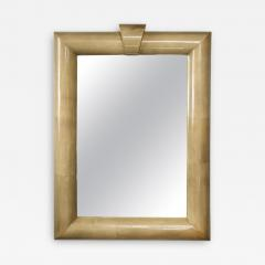 Title Oversized Lacquered Parchment Mirror - 2068844