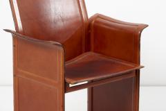 Tito Agnoli Loveseat and Chair by Tito Agnoli for Matteo Grassi in Dark Cognac Leather - 1781452