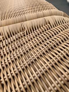 Tito Agnoli Rattan Modular Sofa Armhairs T3 by Tito Agnoli Italy 1970s - 1466593