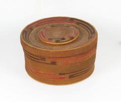 Tlingit lidded rattletop basket - 1664236