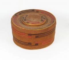 Tlingit lidded rattletop basket - 1664237