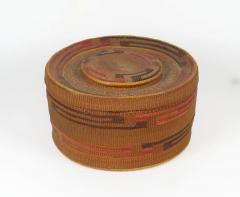 Tlingit lidded rattletop basket - 1664238