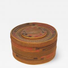 Tlingit lidded rattletop basket - 1666112