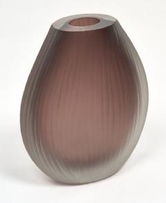 Tobia Scarpa Frosted Murano Glass Vases in the Tobia Scarpa Manner - 632446