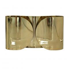 Tobia Scarpa Mid Century Modern Tobia Scarpa Model Foglia Made of Brass Italian Sconces - 2035546