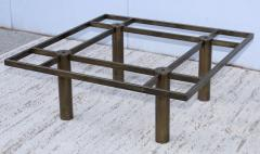 Tobia Scarpa Tobia Scarpa Style Patinated Brass Coffee Table - 1896979