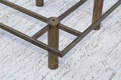 Tobia Scarpa Tobia Scarpa Style Patinated Brass Coffee Table - 1896981