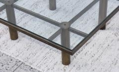 Tobia Scarpa Tobia Scarpa Style Patinated Brass Coffee Table - 1896985