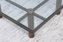 Tobia Scarpa Tobia Scarpa Style Patinated Brass Coffee Table - 1896986