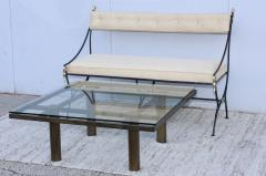 Tobia Scarpa Tobia Scarpa Style Patinated Brass Coffee Table - 1896987