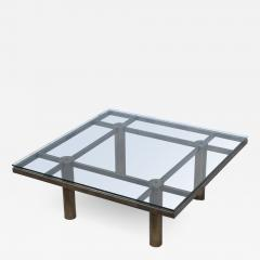 Tobia Scarpa Tobia Scarpa Style Patinated Brass Coffee Table - 1898833