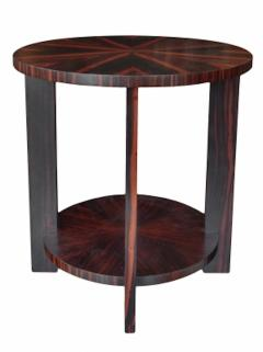 Todd Hase Round Zebrawood Occasional Table - 1756238