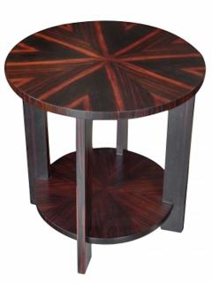 Todd Hase Round Zebrawood Occasional Table - 1756240