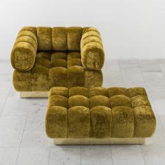 Todd Merrill Todd Merrill Custom Originals Tufted Club Chair and Ottoman - 298863