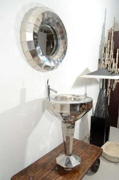 Tom Dixon Tom Dixon Faceted Steel Pedestal Basin and Mirror - 1024268
