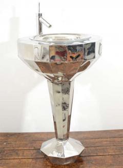Tom Dixon Tom Dixon Faceted Steel Pedestal Basin and Mirror - 1024269
