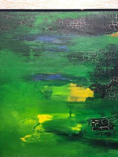 Tom Goldenberg Crossing Walking Green Abstract - 1026707