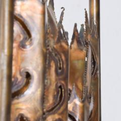 Tom Greene Mid Century Brutalist Brass Torch Cut Table Lamp After Tom Greene - 1873710