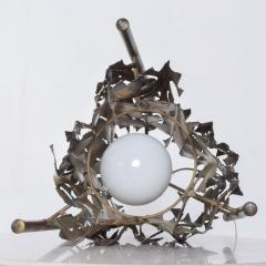 Tom Greene Mid Century Brutalist Brass Torch Cut Table Lamp After Tom Greene - 1873711