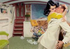Tom Lovell Lovers on a Boat Below Deck - 1198218