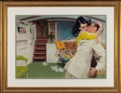 Tom Lovell Lovers on a Boat Below Deck - 1198219
