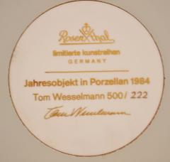 Tom Wesselmann Tom Wesselmann Still Life in Porcelain for Rosenthal 1984 - 1063562