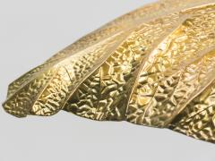 Tommaso Barbi Hollywood Regency Rhubarb brass table lamp Tommaso Barbi 1970s - 997150