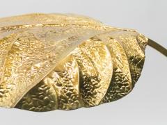 Tommaso Barbi Hollywood Regency Rhubarb brass table lamp Tommaso Barbi 1970s - 997151