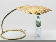 Tommaso Barbi Hollywood Regency Rhubarb brass table lamp Tommaso Barbi 1970s - 997158