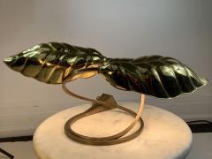 Tommaso Barbi MODERN POLISHED BRASS EXOTIC LEAF LAMP - 1158643