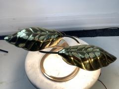 Tommaso Barbi MODERN POLISHED BRASS EXOTIC LEAF LAMP - 1158703