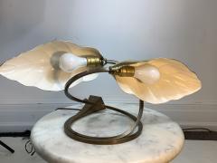 Tommaso Barbi MODERN POLISHED BRASS EXOTIC LEAF LAMP - 1158707