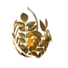 Tommaso Barbi Mid Century Modern Tommaso Barbi Brass Italian Pair of Sconces - 1251821