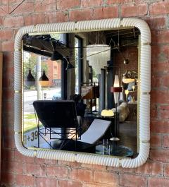 Tommaso Barbi Porcelain Wall Mirror with Brass - 1378153