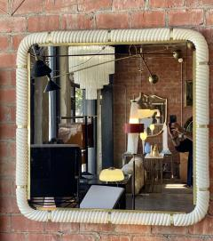Tommaso Barbi Porcelain Wall Mirror with Brass - 1378159