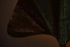 Tommaso Barbi Set of 2 Huge Ginkgo Leaf Brass Wall Lights or Sconces in the manner of Tommaso - 1188197