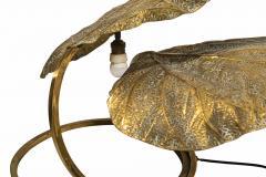 Tommaso Barbi Tommaso Barbi Rhubarb Table Lamp Golden Brass Italy circa 1970 - 1081363