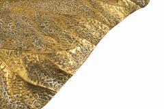Tommaso Barbi Tommaso Barbi Rhubarb Table Lamp Golden Brass Italy circa 1970 - 1081365