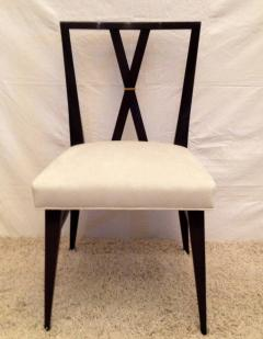 Tommi Parzinger Card or Small Dining Table Four Double X Back Chairs - 104330