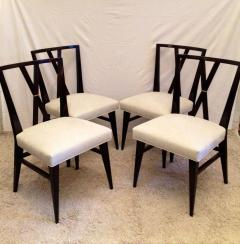 Tommi Parzinger Card or Small Dining Table Four Double X Back Chairs - 104331