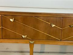 Tommi Parzinger EXCEPTIONAL MID CENTURY BRASS BUTTERFLIES SIDEBOARD - 1197861