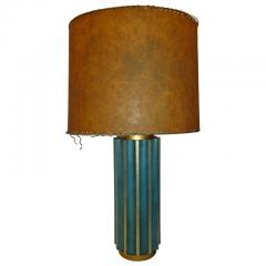 Tommi Parzinger Leather Fluted Table Lamp in the Style of Tommi Parzinger - 574412