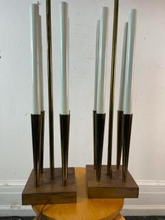 Tommi Parzinger MID CENTURY MODERNIST BRASS LAMPS IN THE MANNER OF TOMMI PARZINGER - 2123045