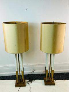 Tommi Parzinger MID CENTURY MODERNIST BRASS LAMPS IN THE MANNER OF TOMMI PARZINGER - 2123048