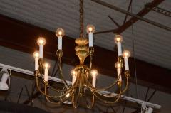 Tommi Parzinger Mid Century Modern Tommi Parzinger Style Brass and Resin Chandelier - 602322