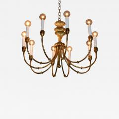 Tommi Parzinger Mid Century Modern Tommi Parzinger Style Brass and Resin Chandelier - 603543