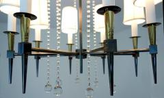 Tommi Parzinger Midcentury Tommi Parzinger Eight Arm Beaded Chandelier - 686903