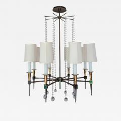 Tommi Parzinger Midcentury Tommi Parzinger Eight Arm Beaded Chandelier - 687493